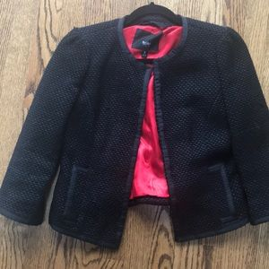 Mossimo woven cropped jacket black size s